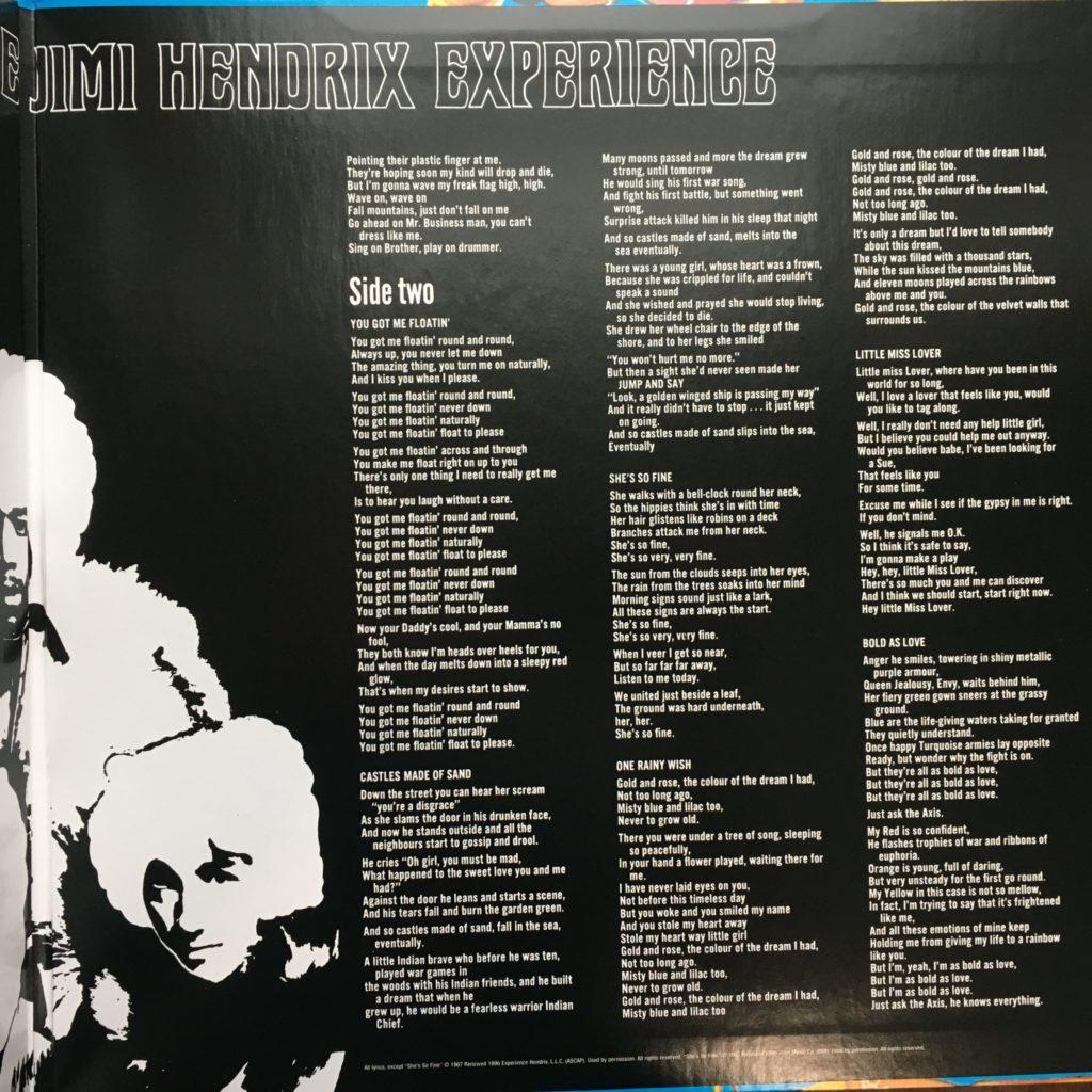 Axis gatefold right with lyrics