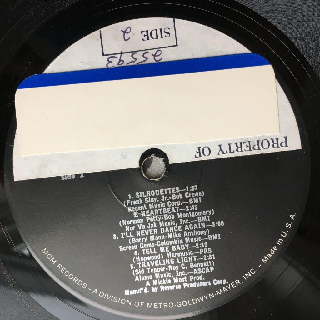 sticker on label
