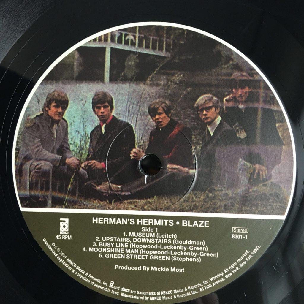 Blaze 180 gram reissue label