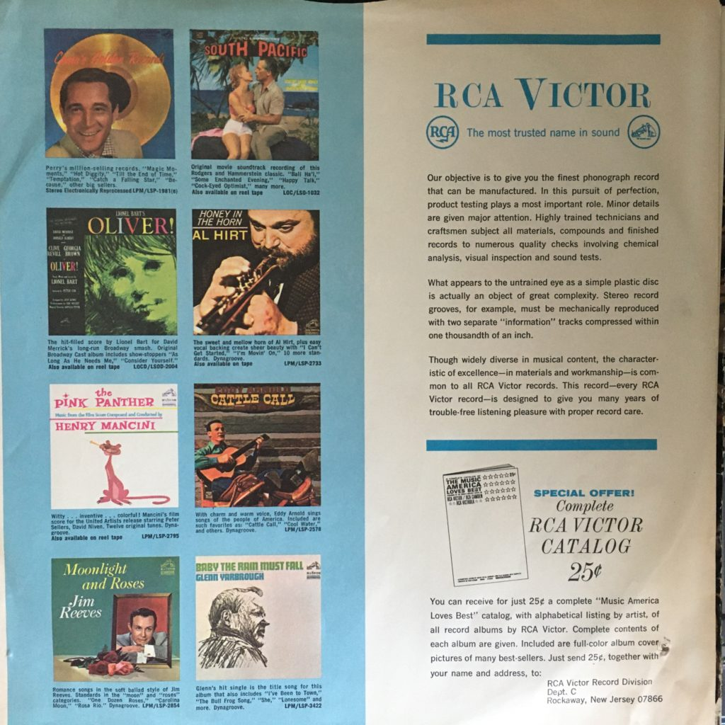 RCA Victor promo sleeve