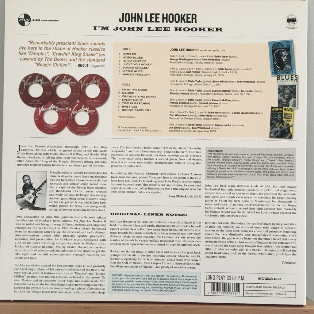 I'm John Lee Hooker back cover