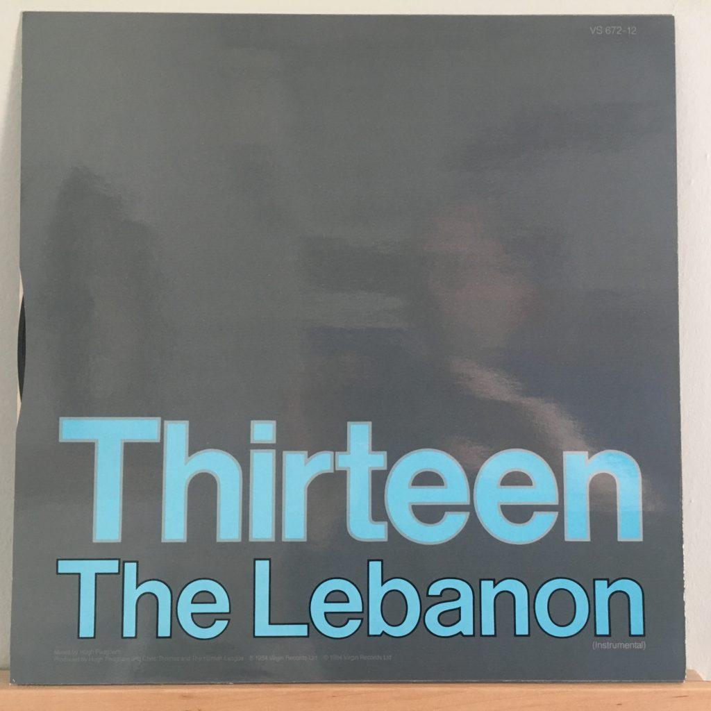 """The Lebanon 12"""" single back cover"""
