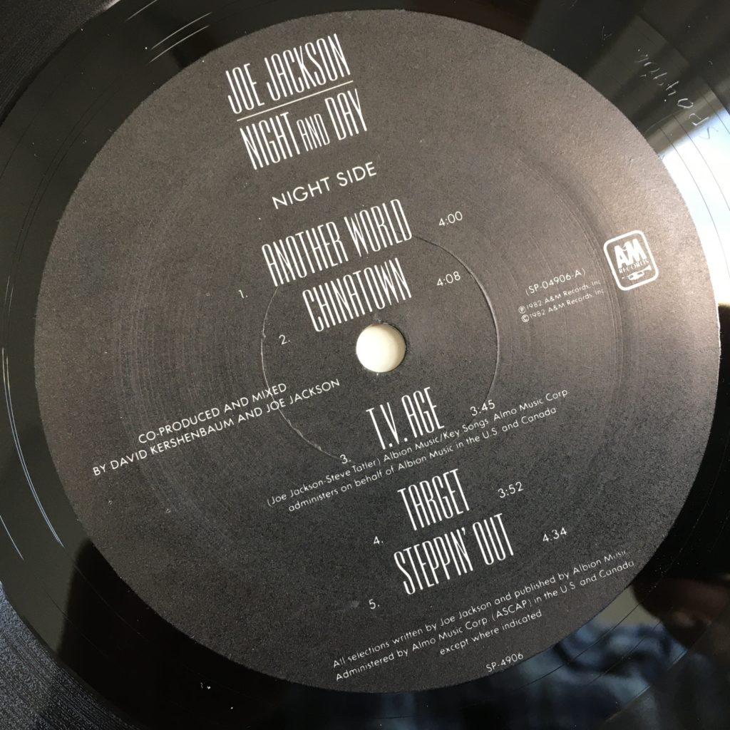 Night and Day Night side label