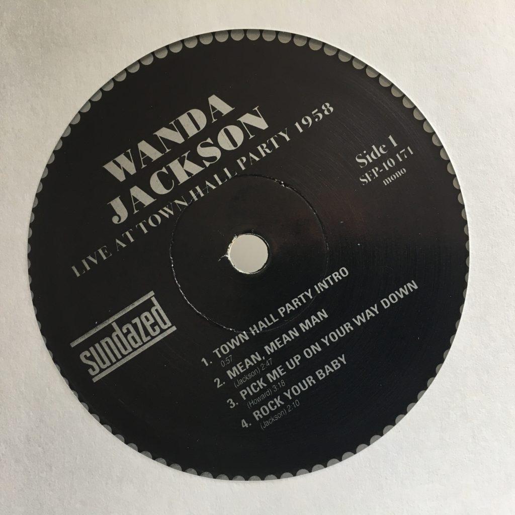 Lovely classic label for Wanda Jackson