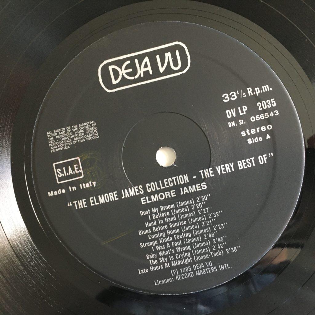 Elmore James Collection label