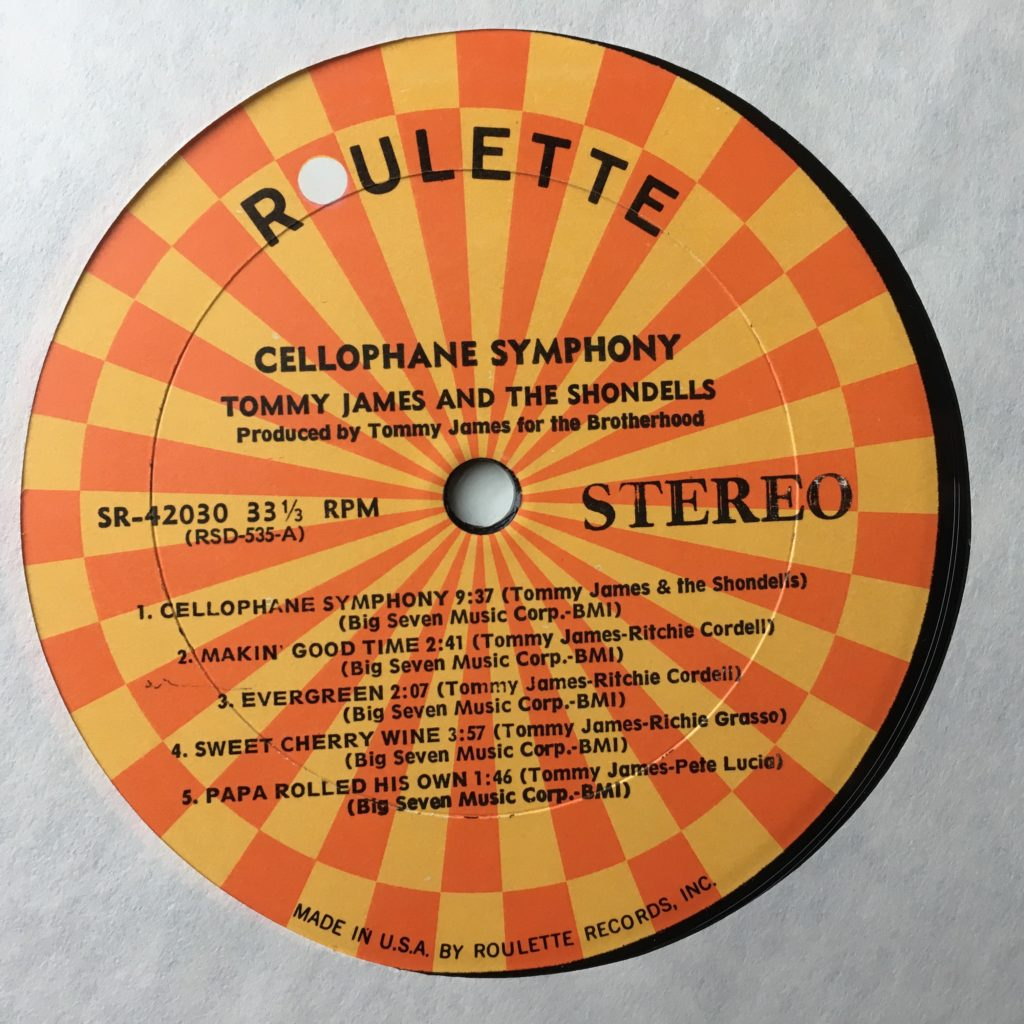 Roulette label Cellophane Symphony