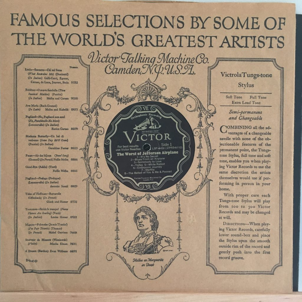 Reproduction of an early RCA Victor sleeve