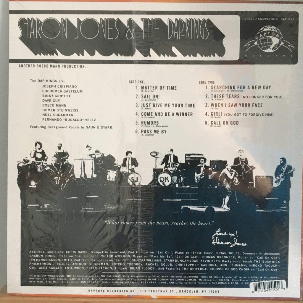Sharon Jones & The Dap-Kings Soul of a Woman back cover