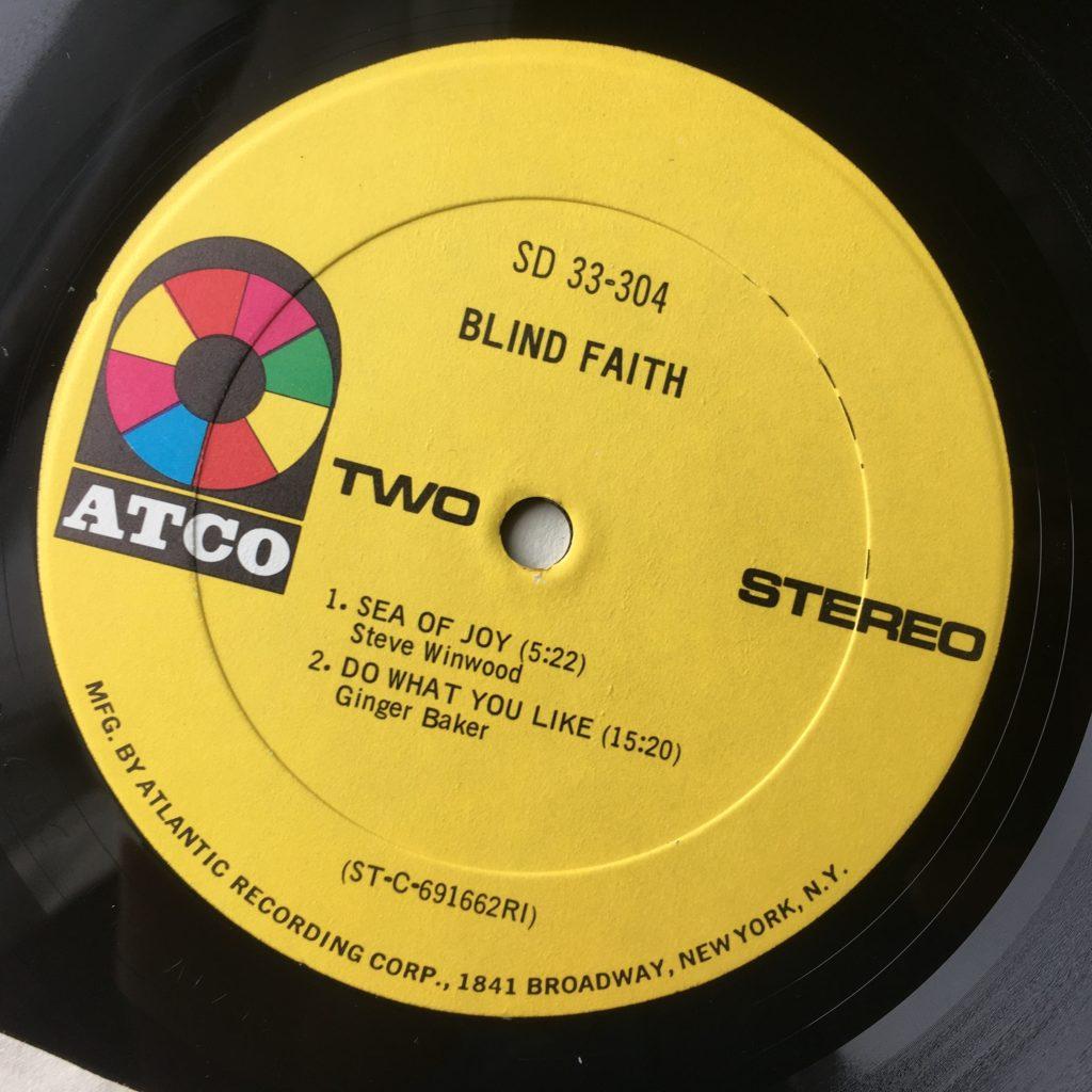Blind Faith ATCO label