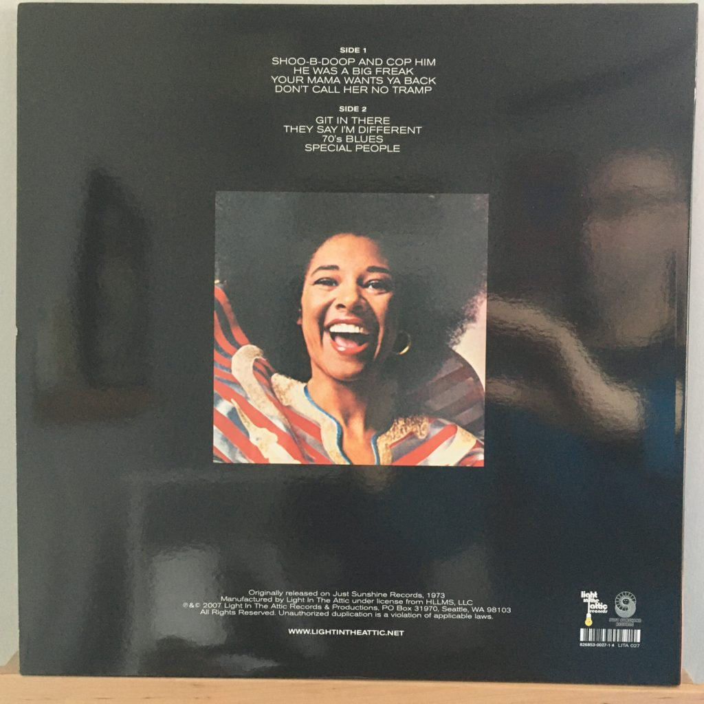 Betty Davis They Say I'm Different back cover