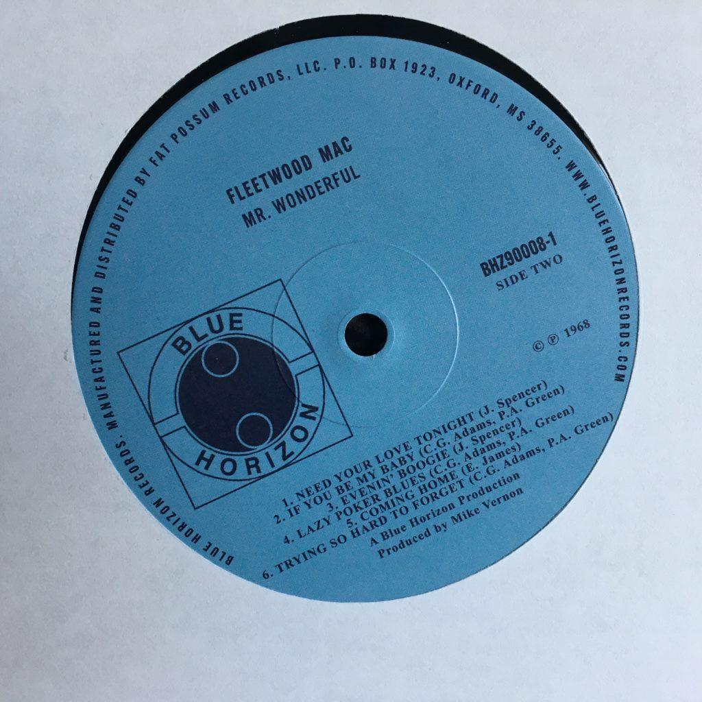 Mr. Wonderful label on Blue Horizon