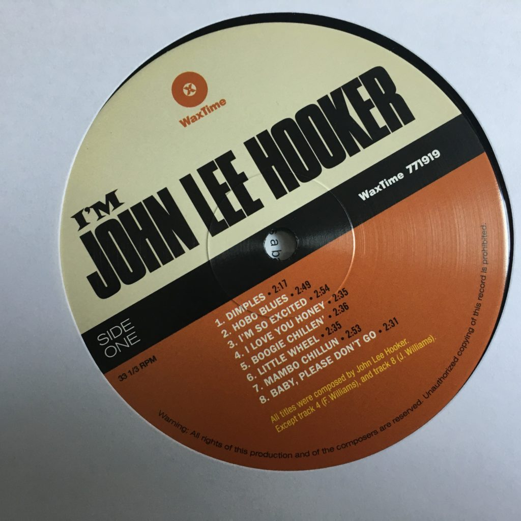 I'm John Lee Hooker label