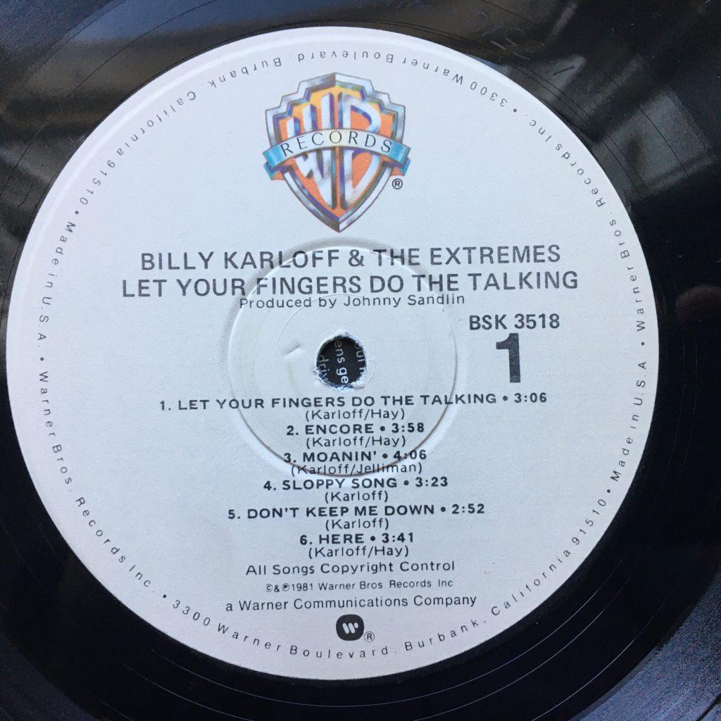 Billy Karloff label