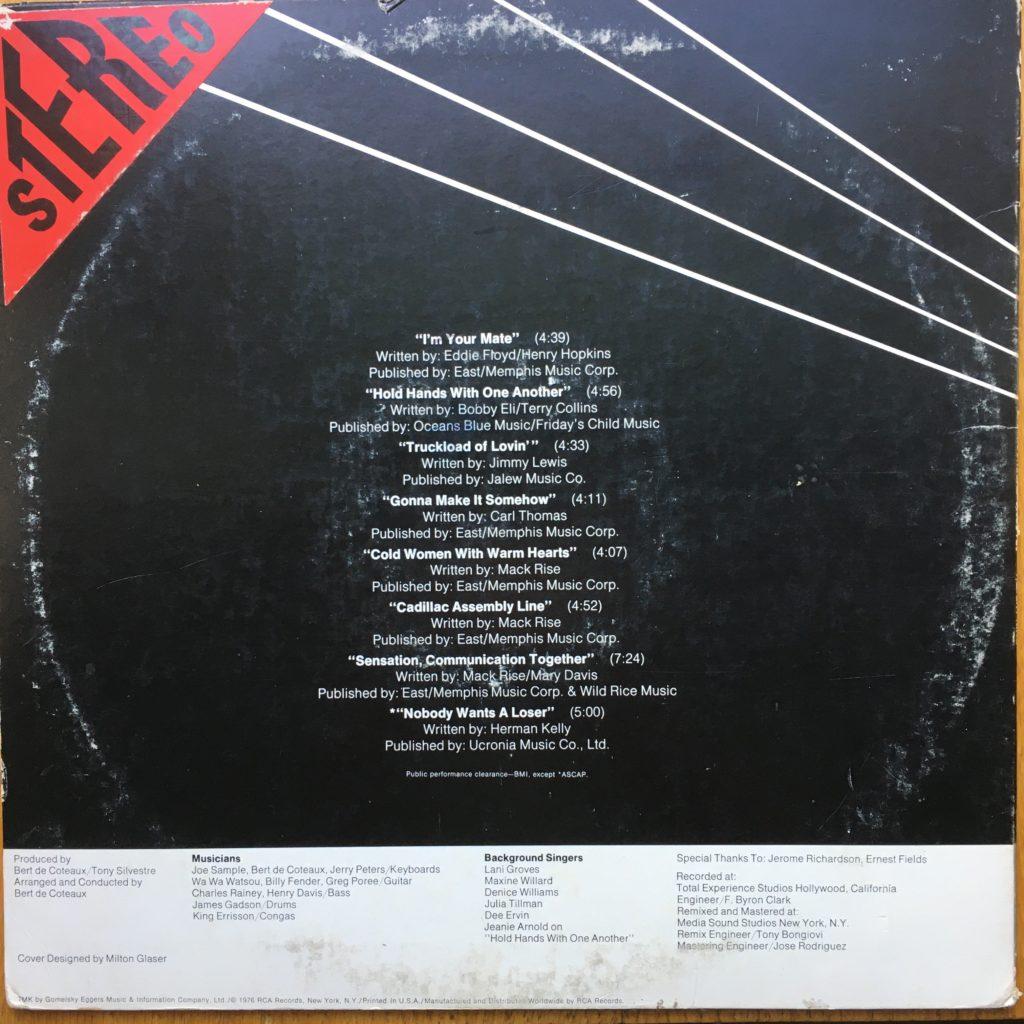 """Albert King's """"Truckload of Lovin'"""" back cover"""
