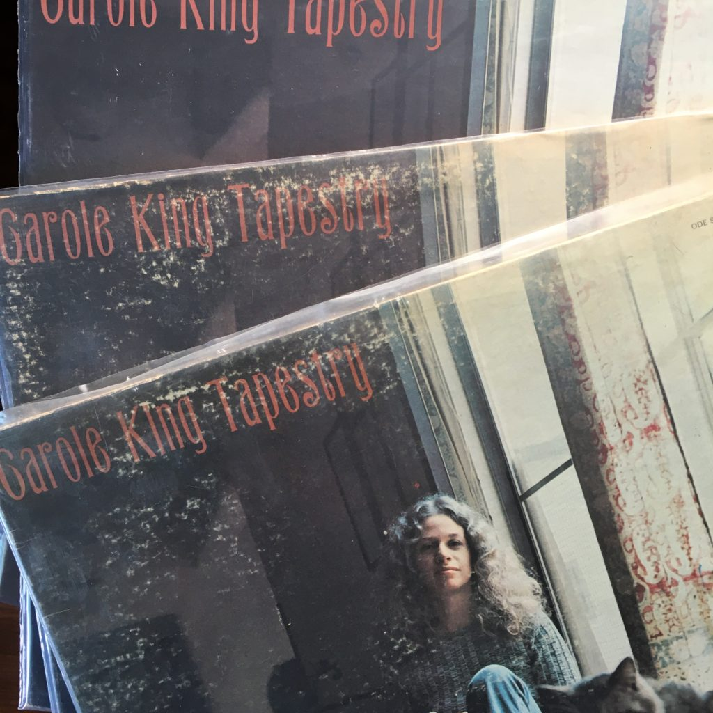 Three copies of Tapestry