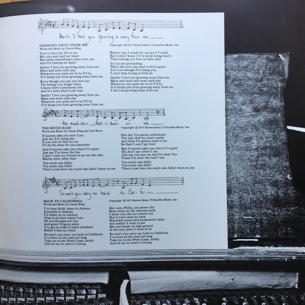 Music's lyric sheet