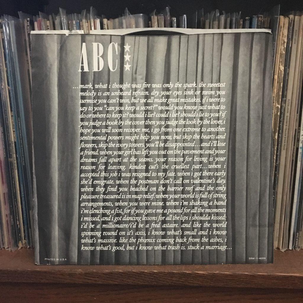 ABC The Lexicon of Love lyric sleeve 1