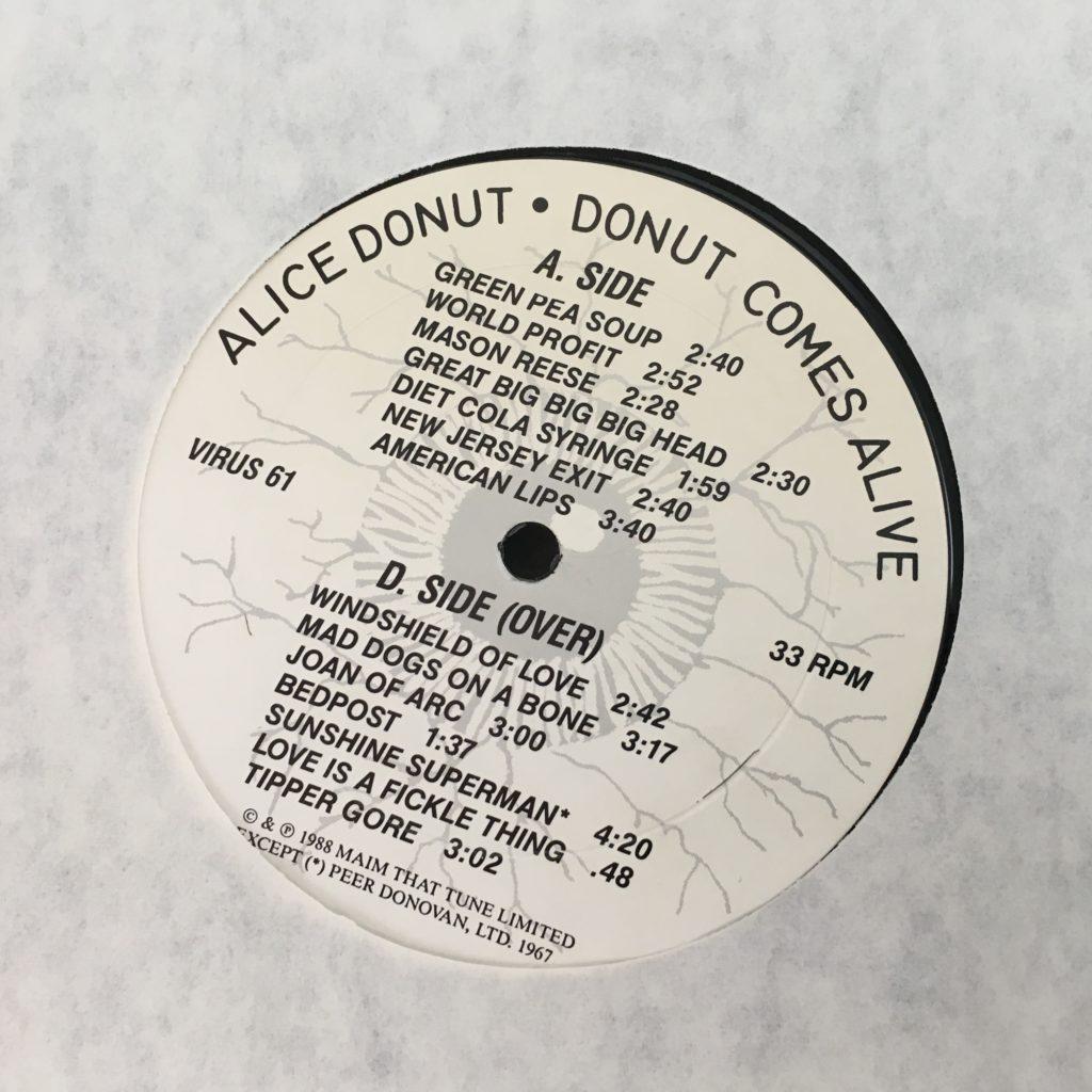 Alice Donut custom label front
