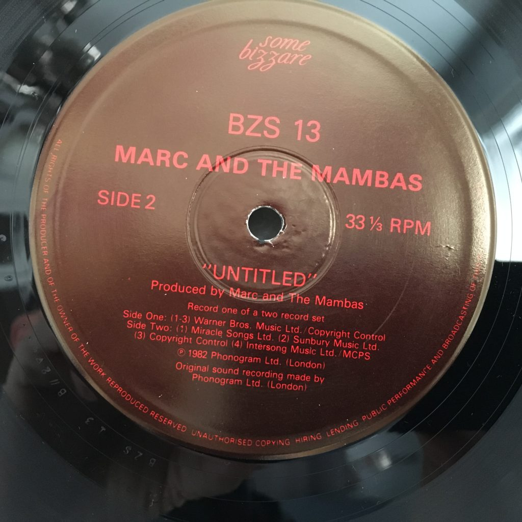 Marc and the Mambas -- Untitled Label Side 2