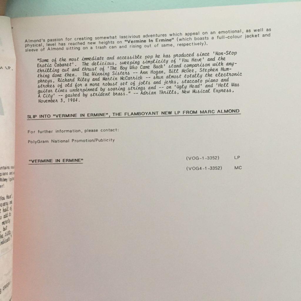 Vermine in Ermine Press Package 3