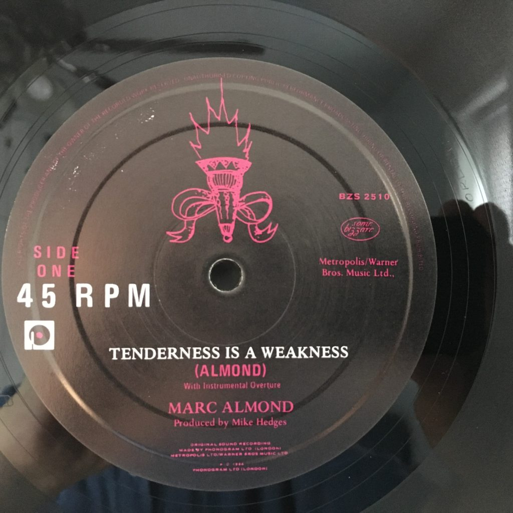 """Tenderness Is A Weakness 10"""" 45 RPM"""