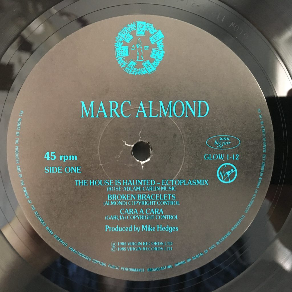 """Marc Almond - The House is Haunted 12"""" Label"""