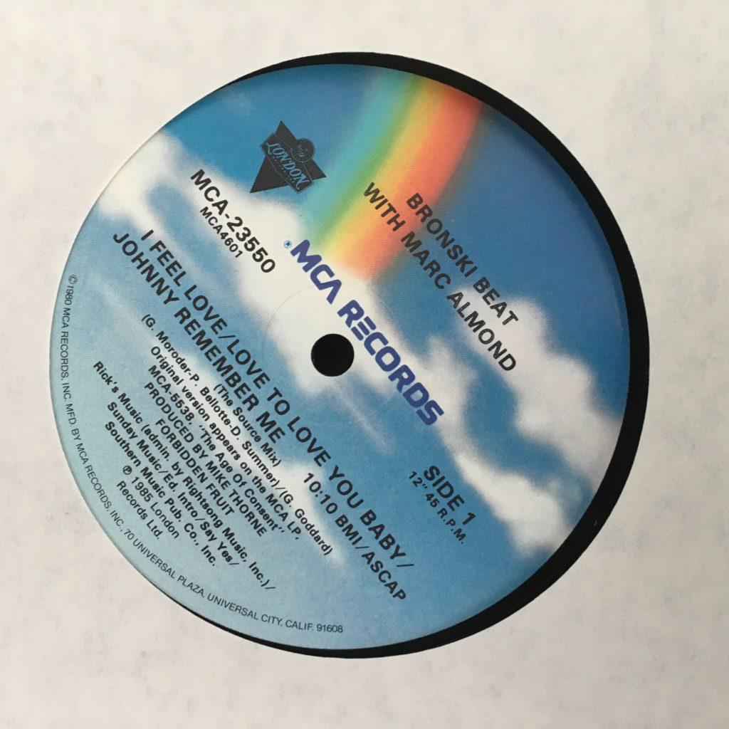 Bronski Beat with Marc Almond Label