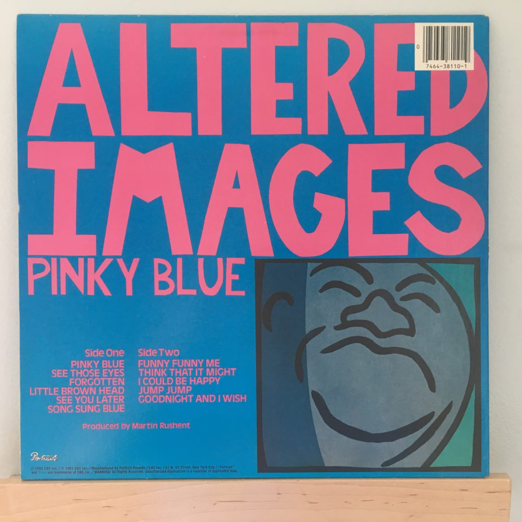 Pinky Blue Album Back Cover