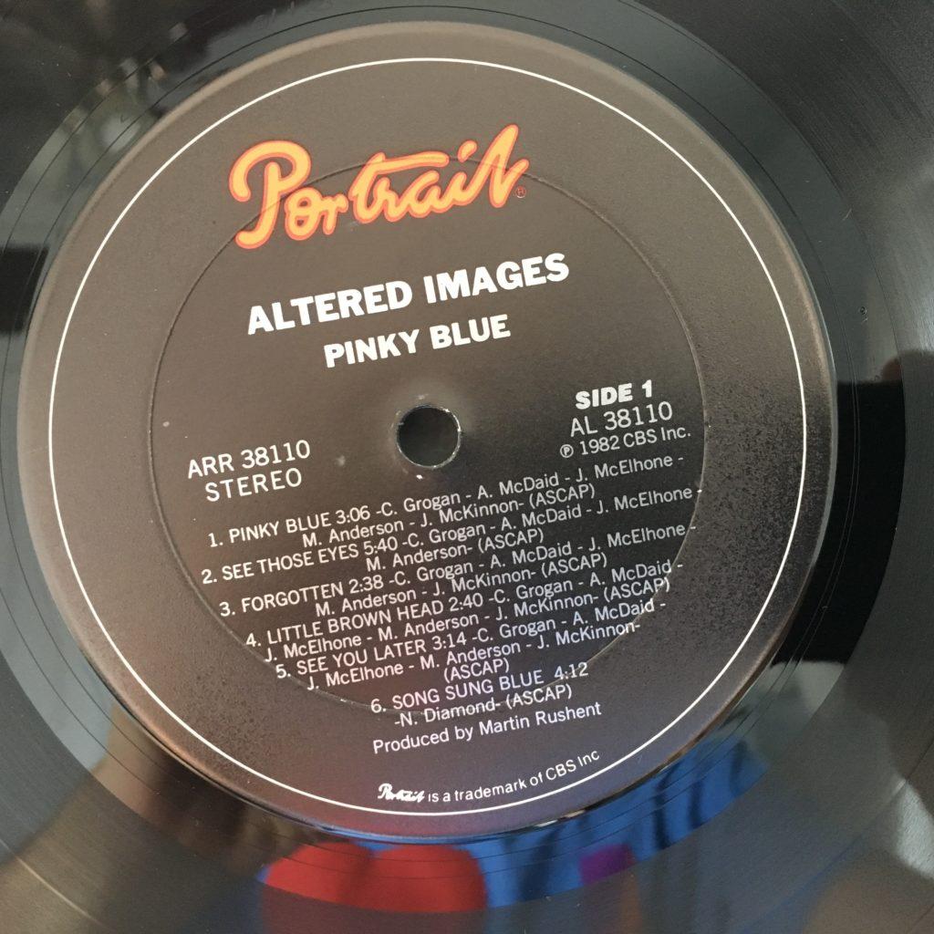 Pinky Blue album label