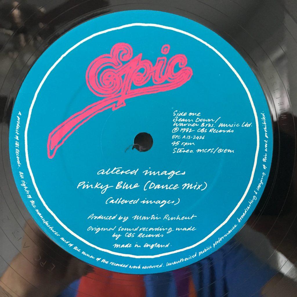 Pinky Blue label