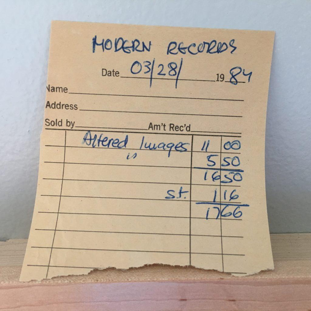 Modern Records Receipt for Bite