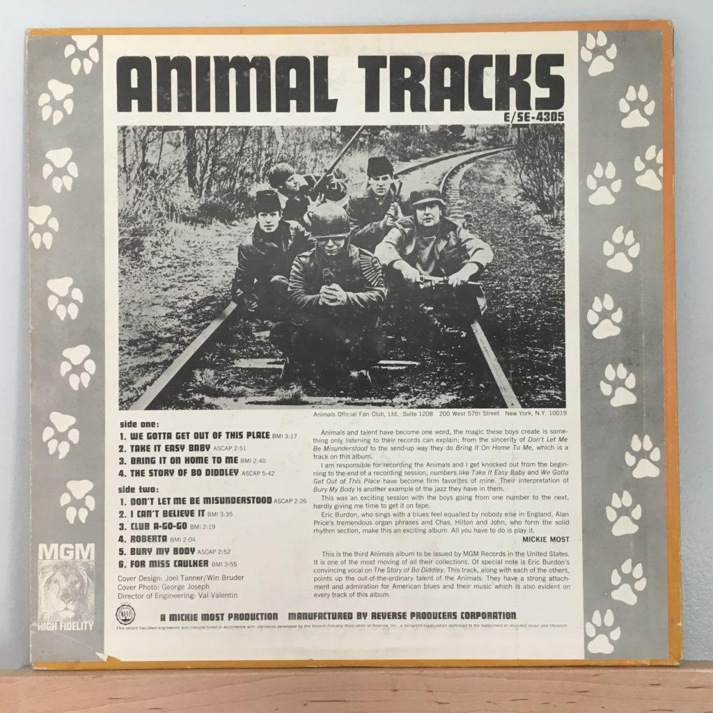 Animal Tracks US Back Cover