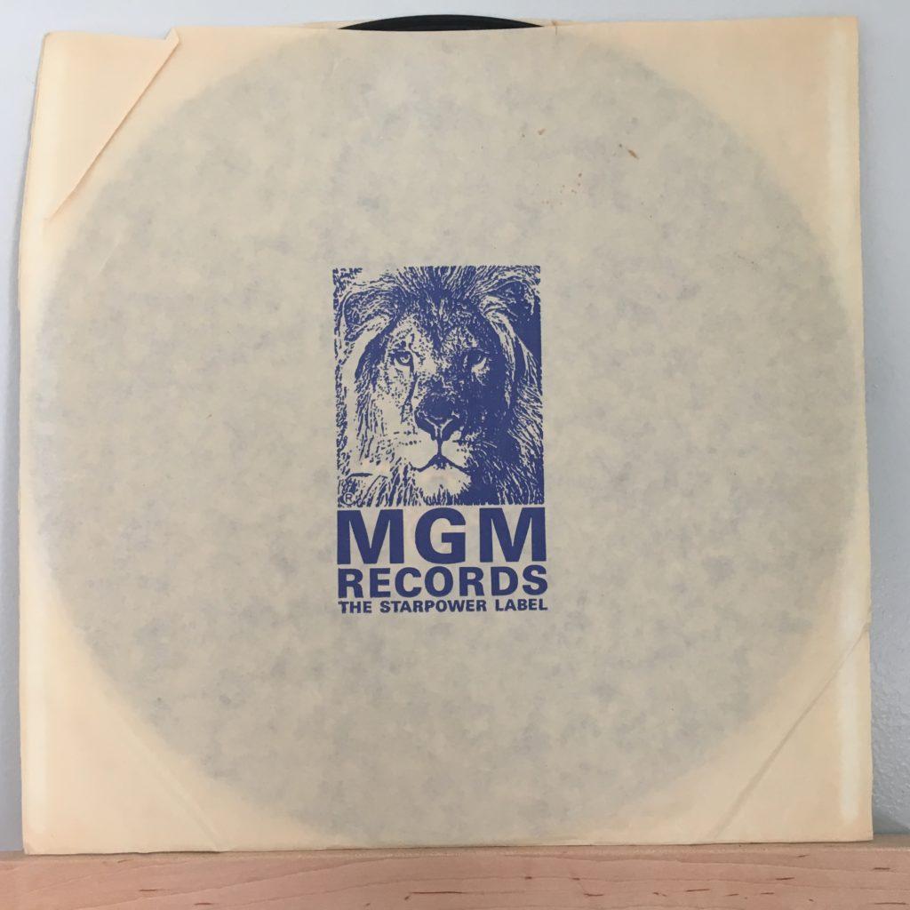 MGM Records logo sleeve