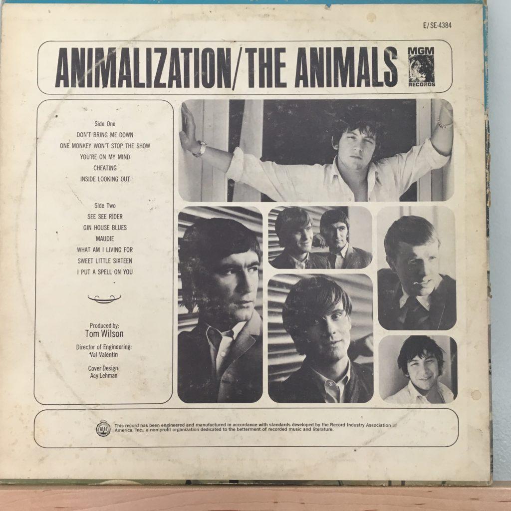 Animalization US Back Cover