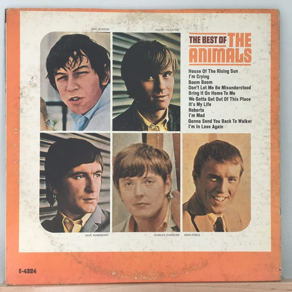The Best of The Animals Back Cover