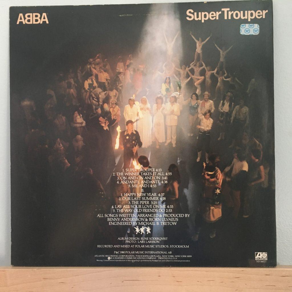 ABBA Super Trouper back cover
