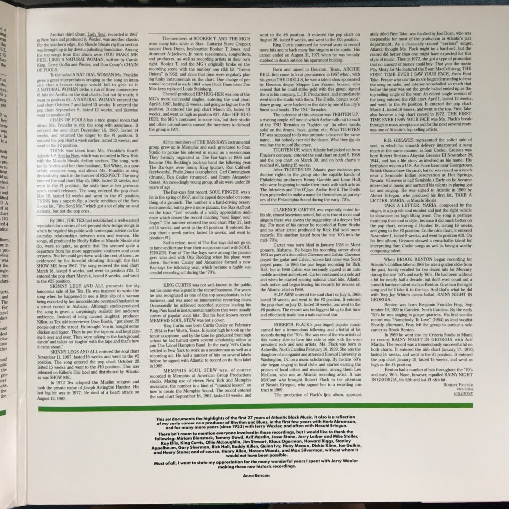 Atlantic R&B liner notes 2