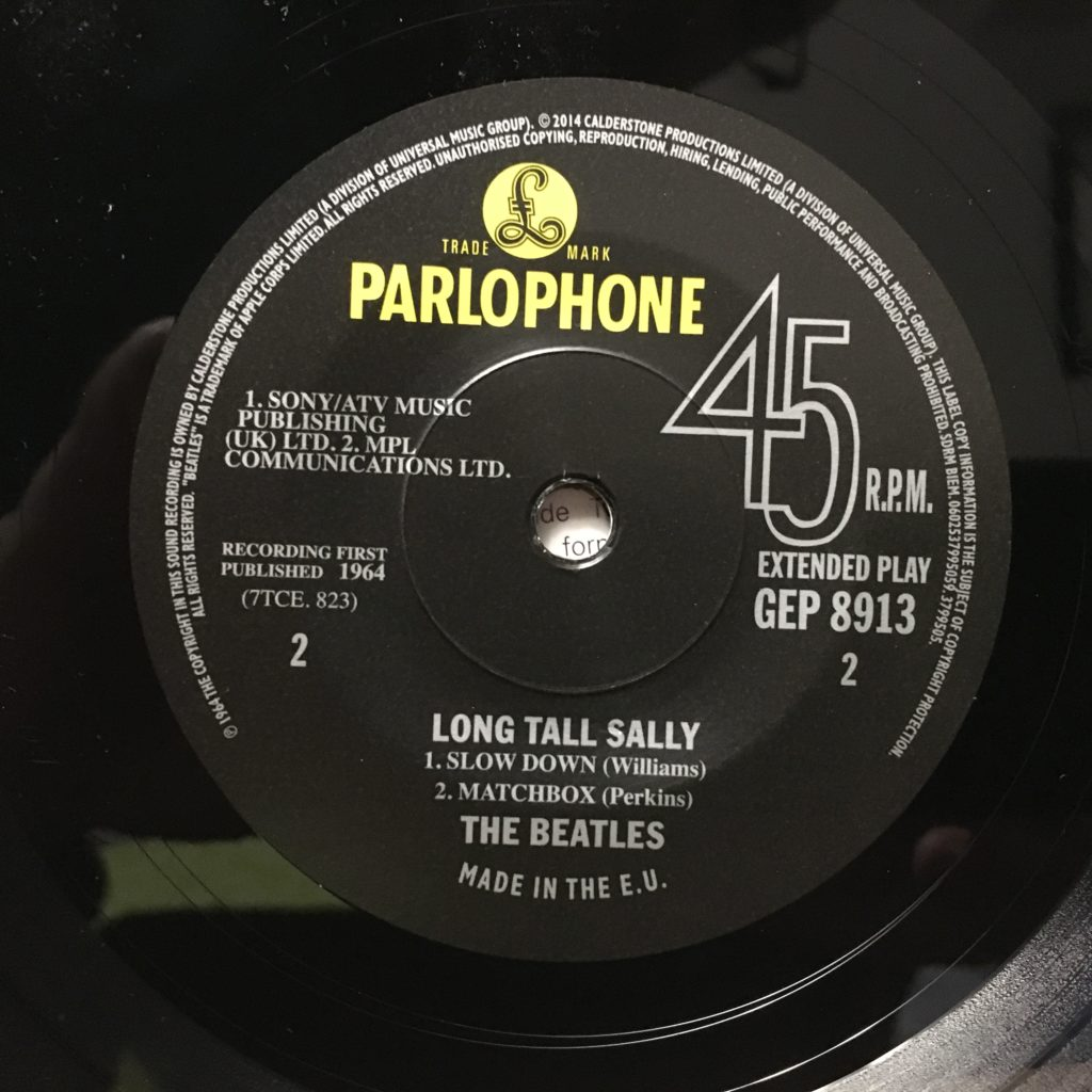 Long Tall Sally EP Label