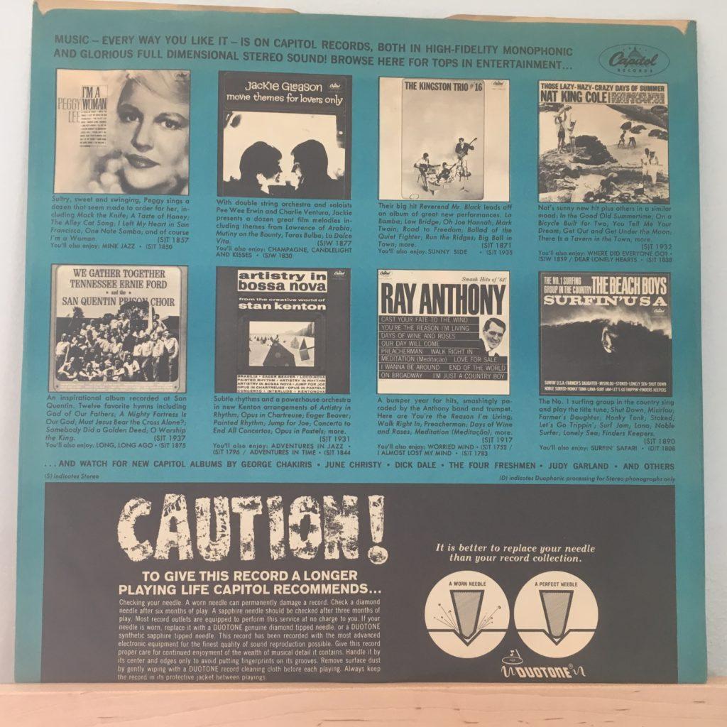 Meet The Beatles Capitol advertising sleeve