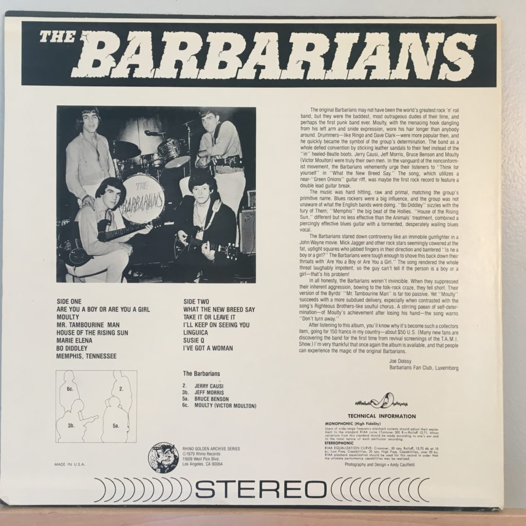 The Barbarians back cover