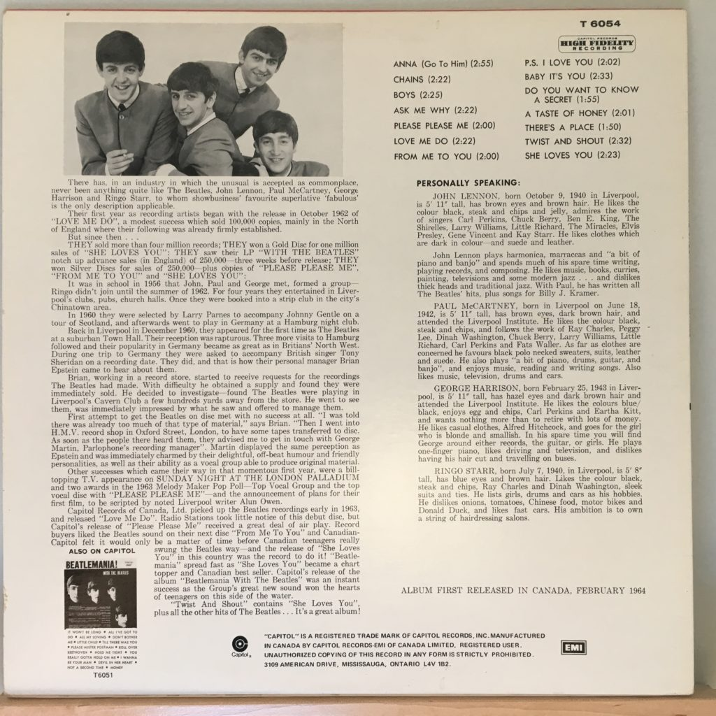 Twist and Shout back cover