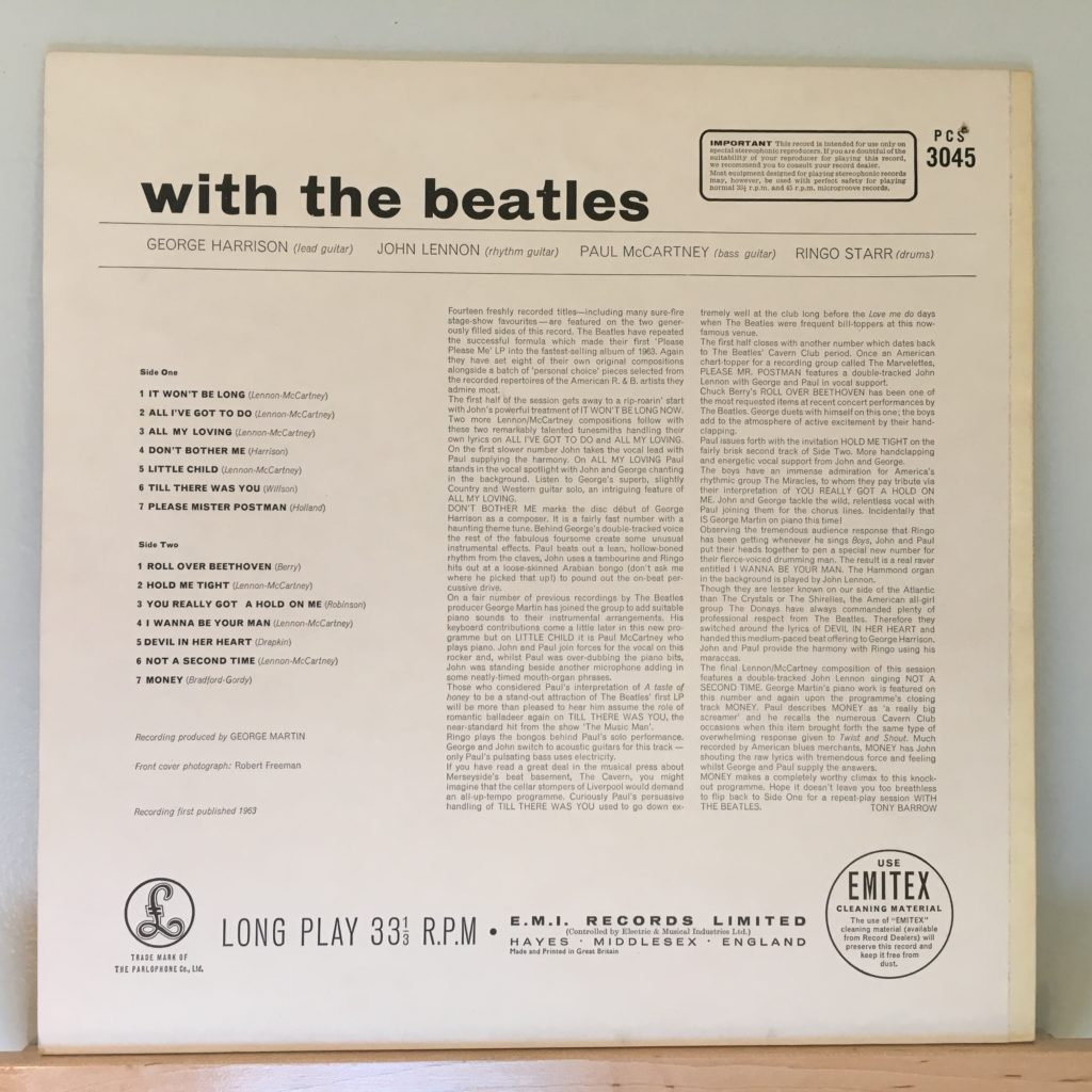 With the Beatles back cover