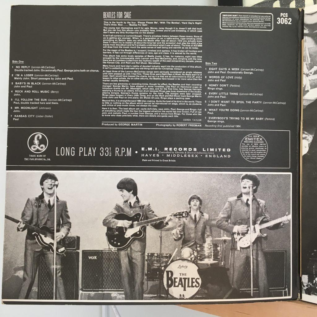 Beatles for Sale left inside