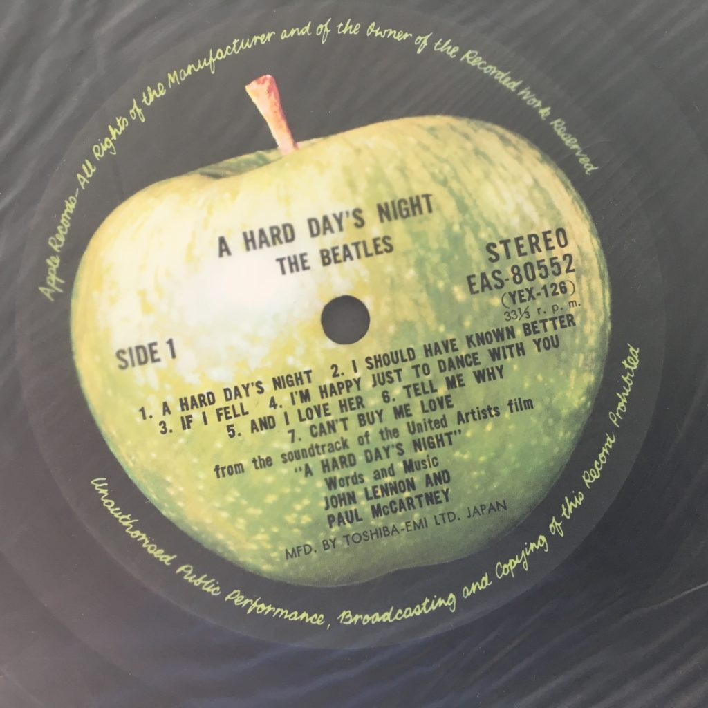 A Hard Day's Night label