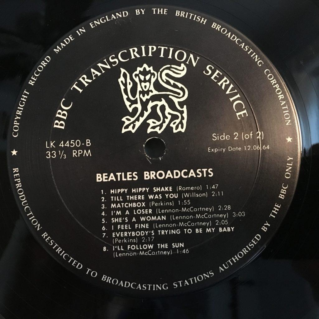 Beatles broadcasts label