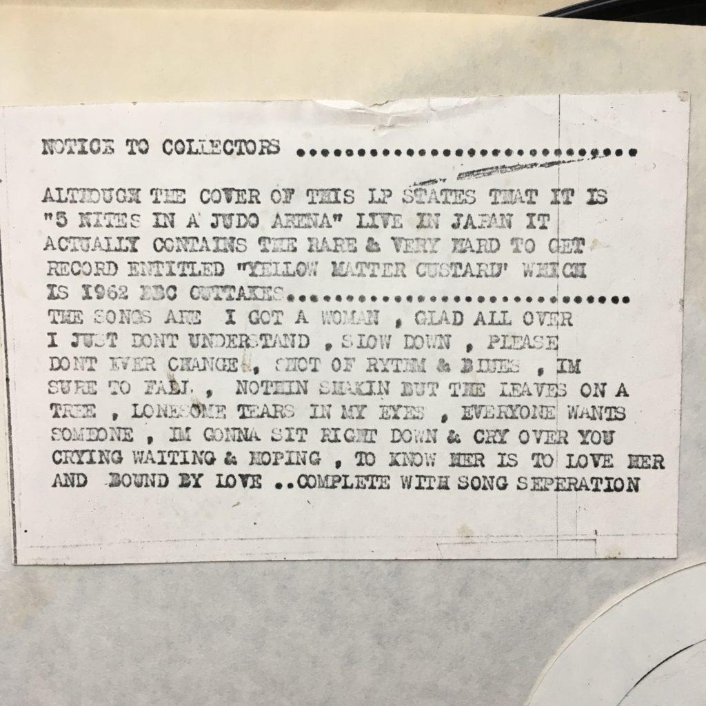 Five nights notice to collectors