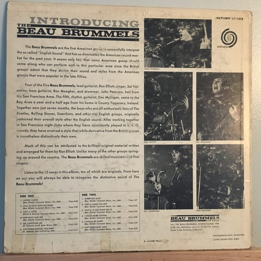 Introducing The Beau Brummels back cover
