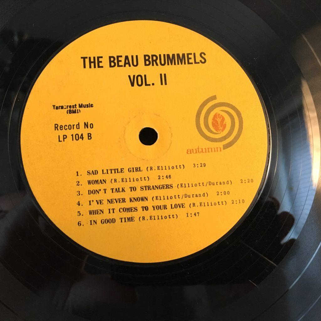 Beau Brummels Vol. II label