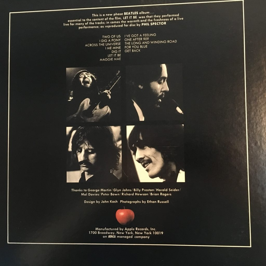 Let it Be back cover