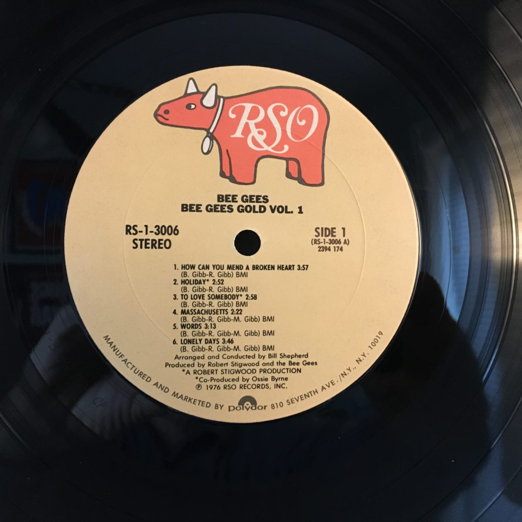 Bee Gees Gold label